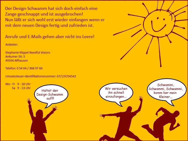Design-Schwamm   Stephanie Roters Needful-Visions   Ankumer Str. 5   49594 Alfhausen   05464/3689766